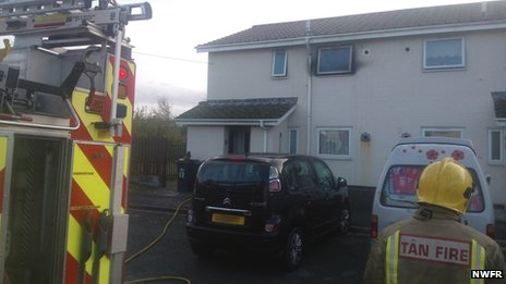 Property in Llandudno, Conwy, where a chip pan fire started