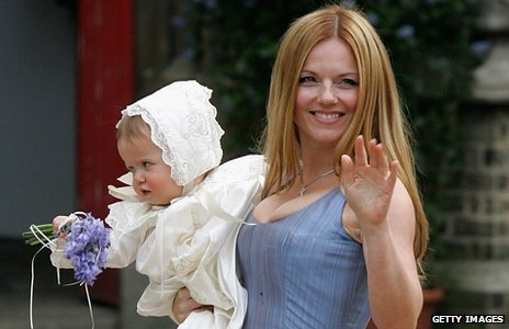 Geri Halliwell with daughter Bluebell Madonna
