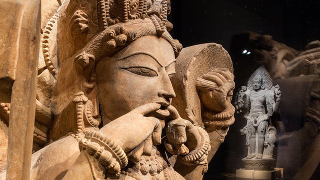 """Sculptures from exhibit """"Yoga: The Art of Transformation"""""""