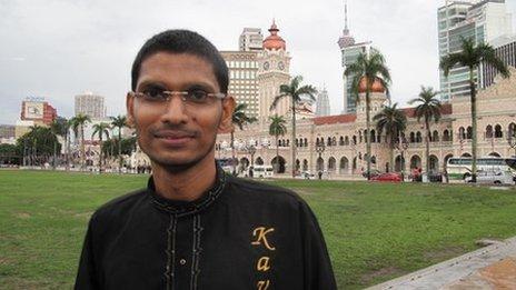 Uthaya Sankar, the organiser of the interfaith walk