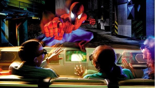 Still from Spider-Man ride