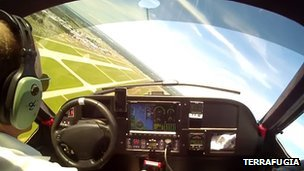 Demo flight footage