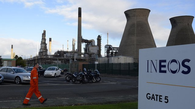 Worker at Grangemouth