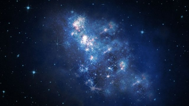 An artist's rendering of the galaxy, known by its catalogue name z8_GND_5296