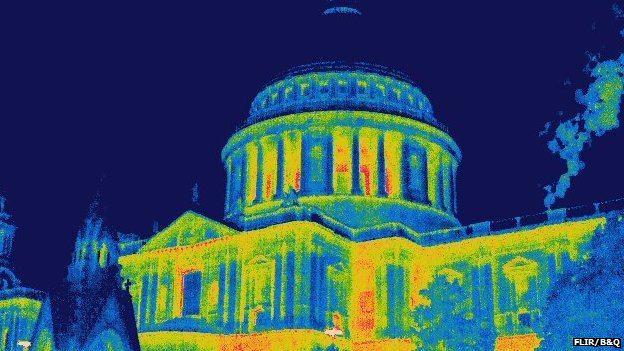 St Paul's Cathedral thermal image