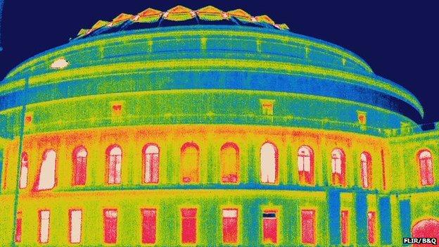 Royal Albert Hall thermal image