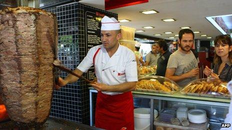 Doner restaurant in Ankara, Turkey (10 July 2012)