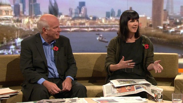 Greg Dyke, Chairman of the Football Association and Catherine Mayer, Editor at Large of TIME magazine