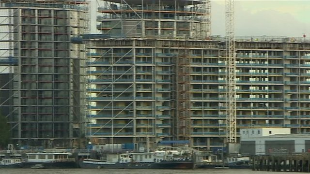 Homes under construction in London