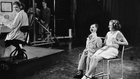 Ventriloquist act, BBC TV 1936