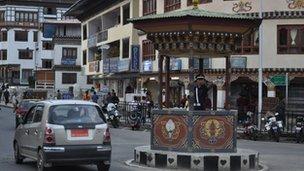 Capital Thimphu is a thriving metropolis