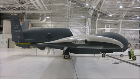 Side view of Global Hawk clean