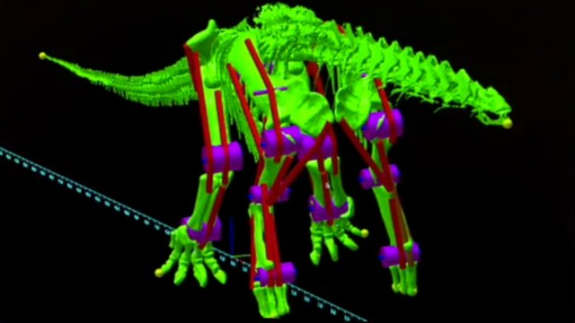 Digital robot of the dinosaur Argentinosauruus
