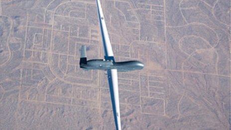 Global Hawk drone aerial view