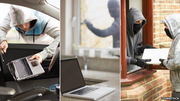 Stealing laptops