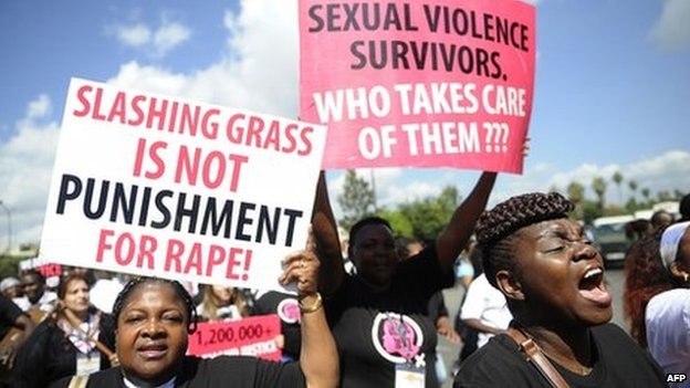 Anti-rape protesters in Nairobi (31 October 2013)