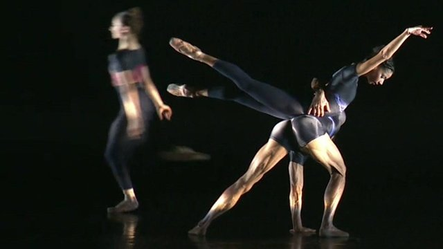Dancers from the Birmingham Royal Ballet performing in at the Theatre Royal in Plymouth
