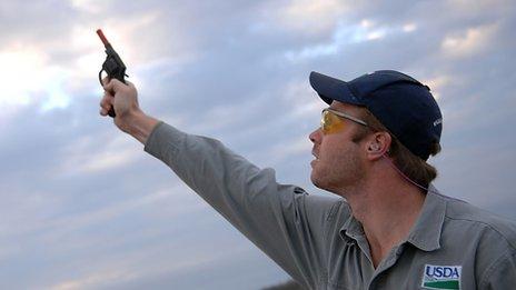 Airport biologist Odin Stephens