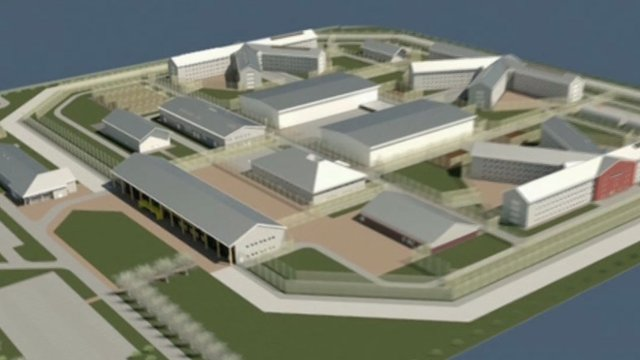 An impression of the planned new prison