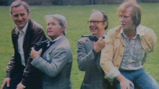 Eric Morecambe with Ernie Wise