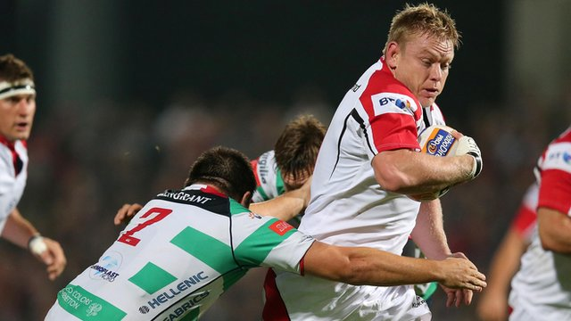 Ulster's Tom Court in action against Treviso