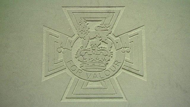 Victoria Cross paving stone