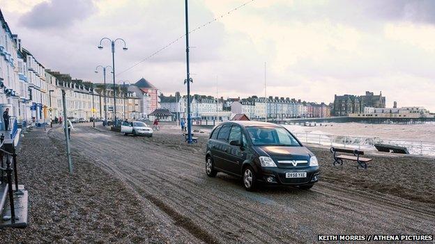 Storm aftermath at Aberystwyth