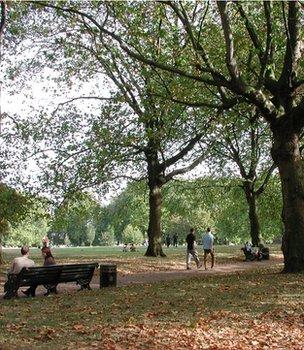 Green Park, London (Image: BBC)