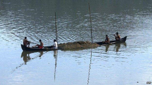 File photo of Kerala sand mining