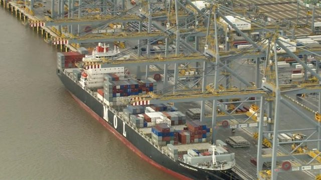 Unloading at the London Gateway port