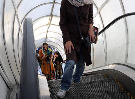 Woman wearing jeans in Tehran in October 2013