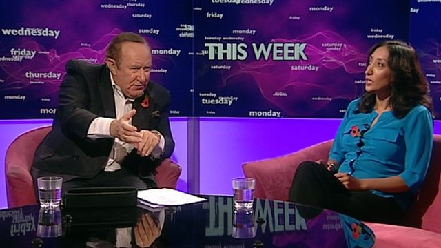 Andrew Neil and Shazia Mirza