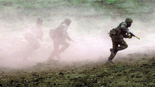 Army training exercise