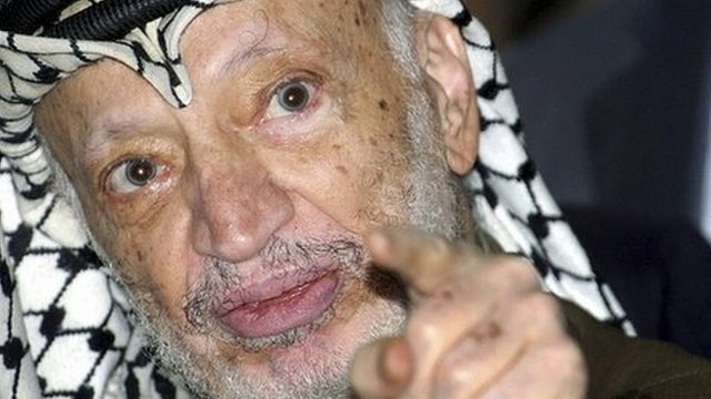 Yasser Arafat in 2004