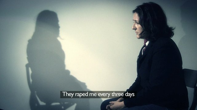 Vasantha tells the BBC's Frances Harrison she was sexually abused by government forces