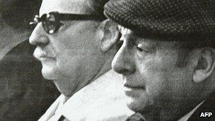 Neruda and President Salvador Allende (undated image)