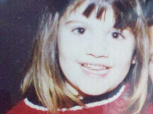 Kristina as a young girl