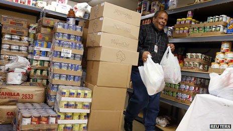 Food bank help in Chicago, Nov 2013