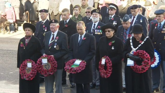 Remembrance Sunday in East Grinstead