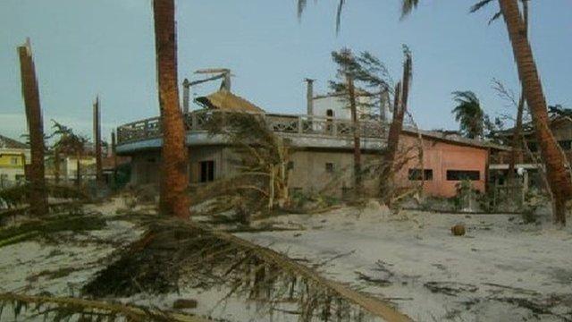A damaged building in Cebu