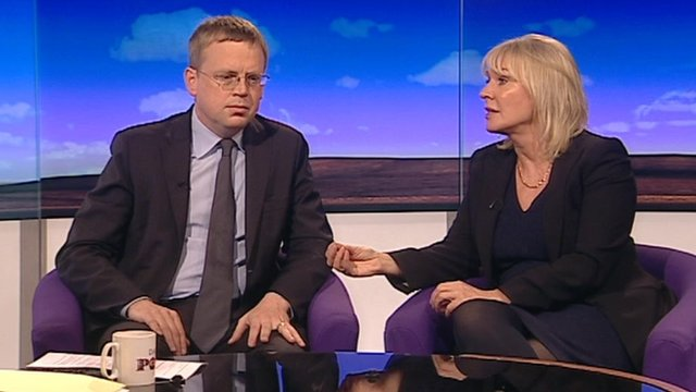 Nick Pearce of IPPR and Conservative MP Nadine Dorries