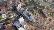 Aerial view of a ship which has run aground in Tacloban, Philippines