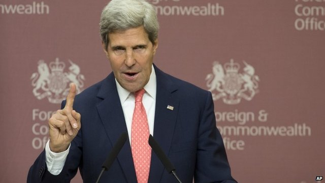 The American Secretary of State, John Kerry.