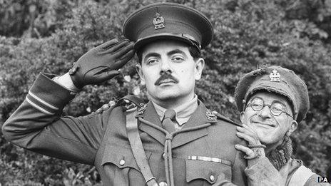 Rowan Atkinson and Tony Robinson