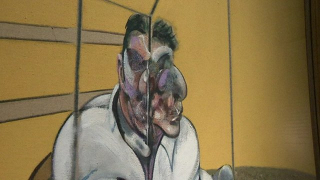 One of the triptych, Three Studies of Lucian Freud