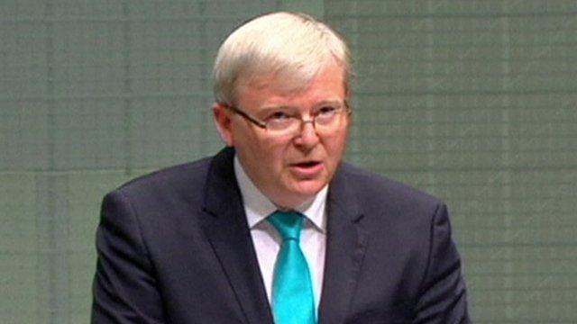 Former Australian prime minister Kevin Rudd