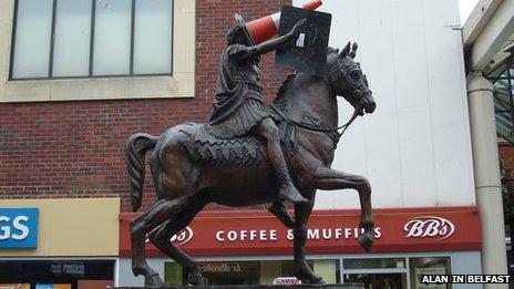 Statue with cone