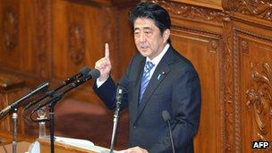 File photo: Shinzo Abe