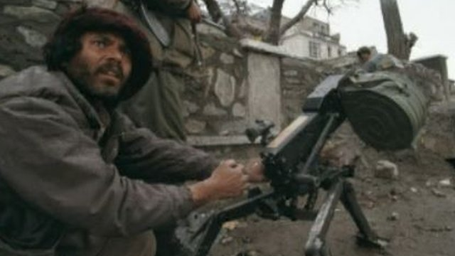 An Afghan fighter