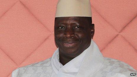 Gambia's President Yahya Jammeh (file image)